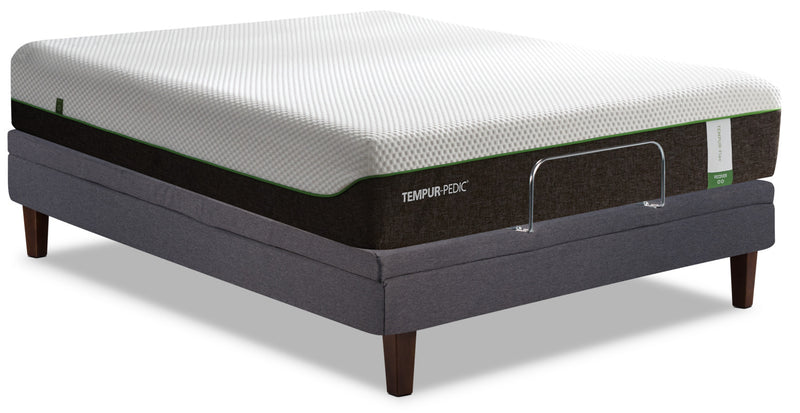 TEMPUR-Flex® Recover Tight-Top Queen Mattress with Tuxedo Adjustable Base|Matelas à plateau régulier Recover TEMPUR-Flex et base ajustable Reflexion Tuxedo pour grand lit