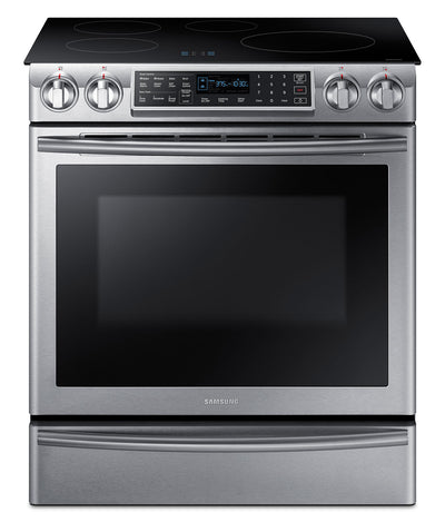 Samsung 5.8 Cu. Ft. Slide-In Induction Range – NE58K9560WS/AC|Cuisinière encastrée Samsung de 5,8 pi³ à induction – NE58K9560WS/AC|NE58K95S