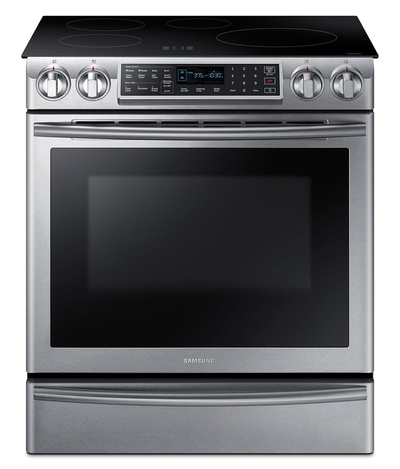 Samsung 5.8 Cu. Ft. Slide-In Induction Range – NE58K9560WS/AC|Cuisinière encastrée Samsung de 5,8 pi³ à induction – NE58K9560WS/AC