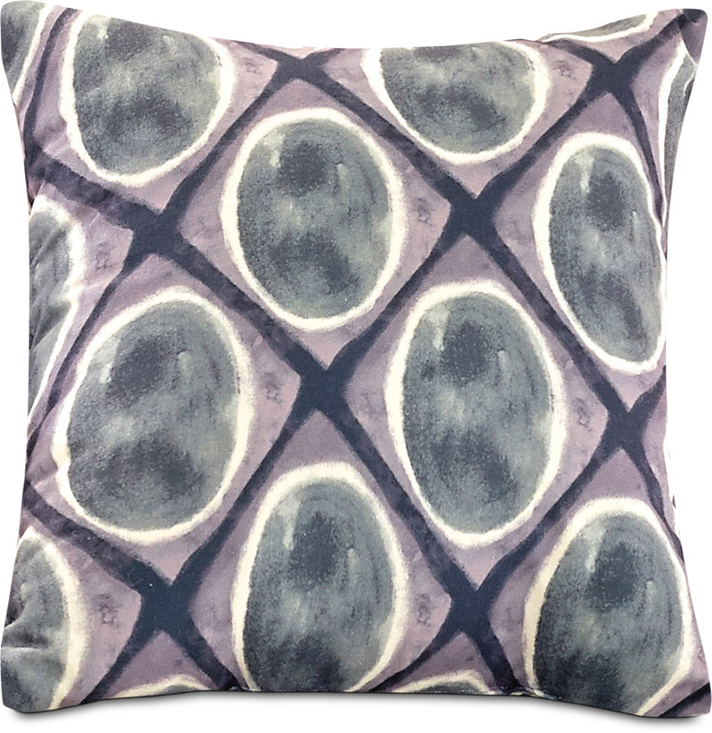 Watercolour Geo Accent Pillow – Grey, Black and White|Coussin décoratif aquarelle géométrique - gris, noir et blanc