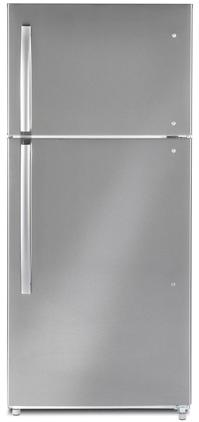 Moffat 18 Cu. Ft. Top-Freezer Refrigerator – MTE18GSKSS - Refrigerator in Stainless Steel