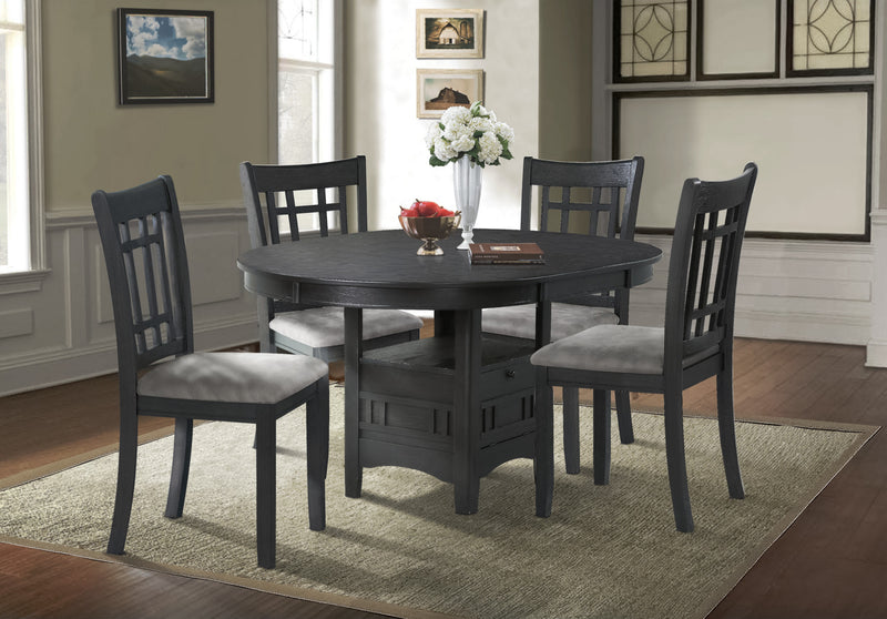 Desi Dining Table Charcoal The Brick