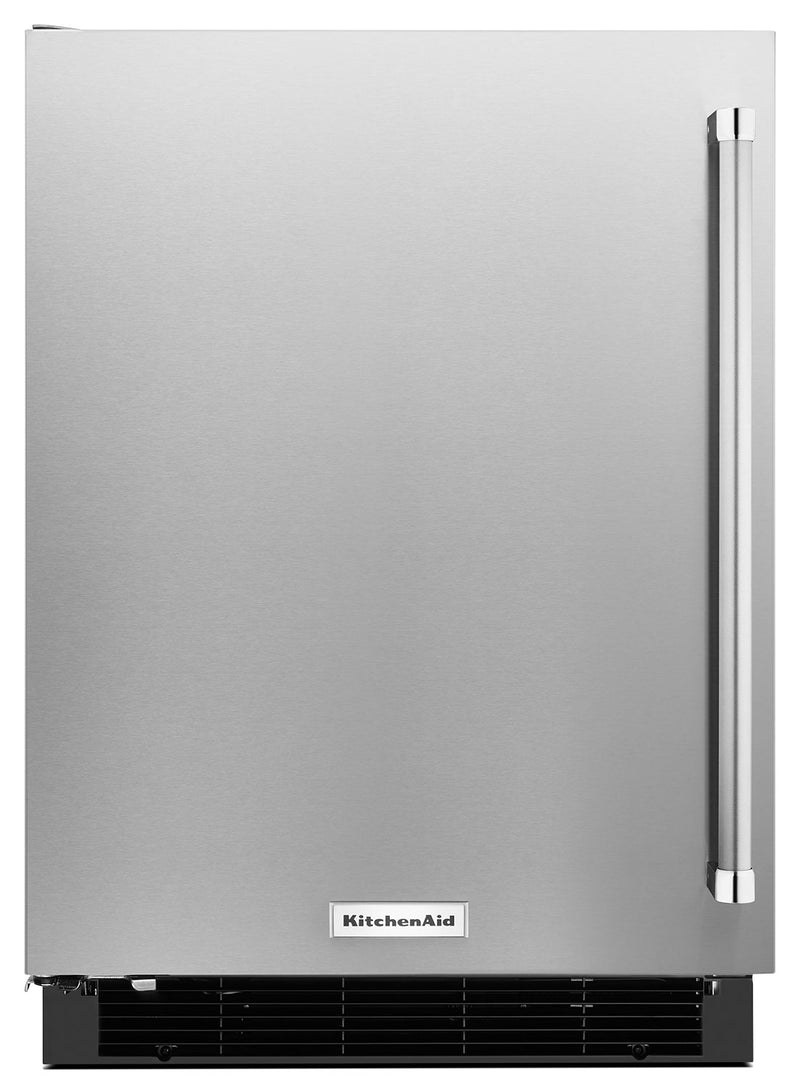 KitchenAid 4.9 Cu. Ft. Undercounter Refrigerator with Left Door Swing - Stainless Steel - Refrigerator in Stainless Steel