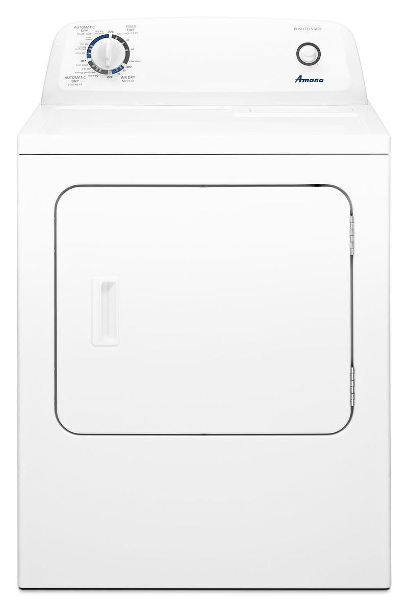 Amana 6.5 Cu. Ft. Gas Dryer with Automatic Dryness Control – NGD4655EW|Sécheuse à gaz Amana de 6,5 pi3 avec commande de séchage automatique - NGD4655EW