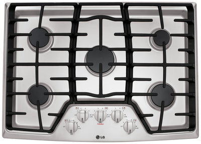"LG 30"" Gas Cooktop – LCG3011ST - Gas Cooktop in Stainless Steel"