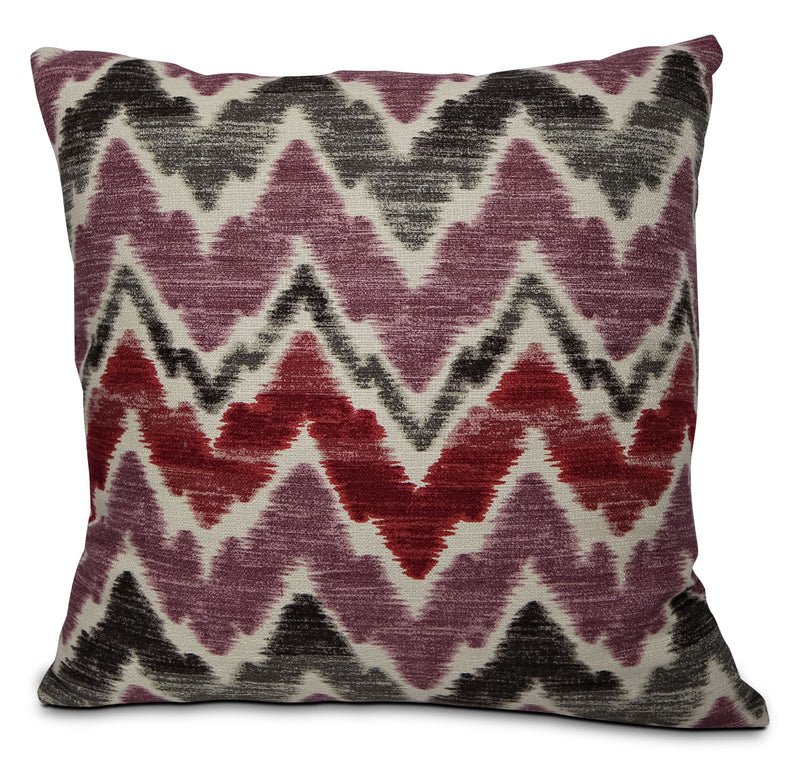 Tierra Accent Pillow – Pink, Grey, Black and White|Coussin décoratif Tierra - violet, vert et blanc