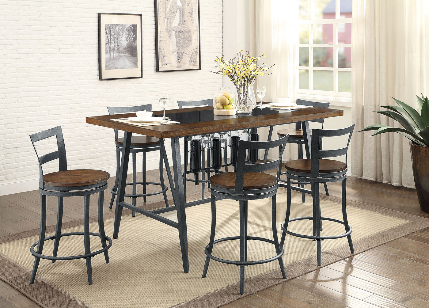 Nolita 7 Piece Counter Height Dining Package