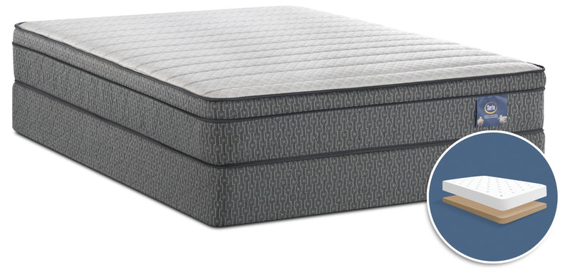 Serta Always Comfortable® Alberto Euro-Top Low-Profile Queen Mattress Set|Ensemble matelas à Euro-plateau à profil bas Alberto Toujours Confortable de Serta pour grand lit