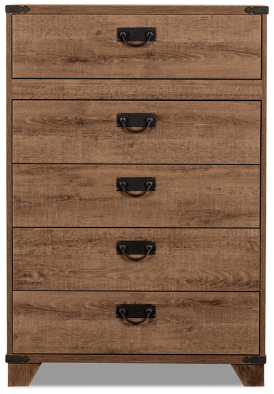 Driftwood 5-Drawer Chest|Commode verticale Driftwood à 5 tiroirs|DRIFT-CH