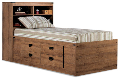Driftwood Captains Platform Bed|Lit capitaine Driftwood|DRIFTCBED