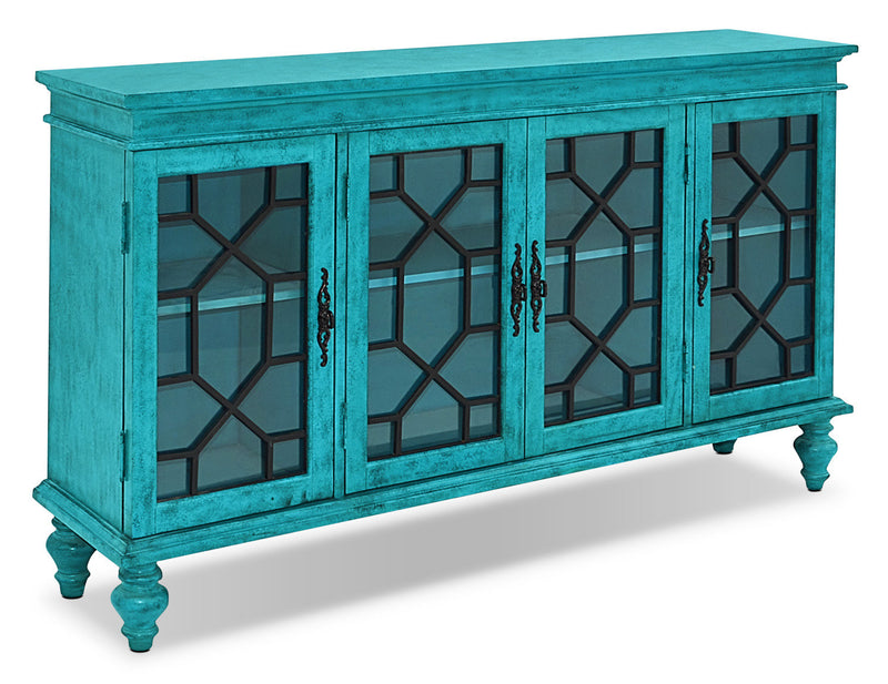 Rigolet Large Accent Cabinet – Blue|Armoire décorative Rigolet