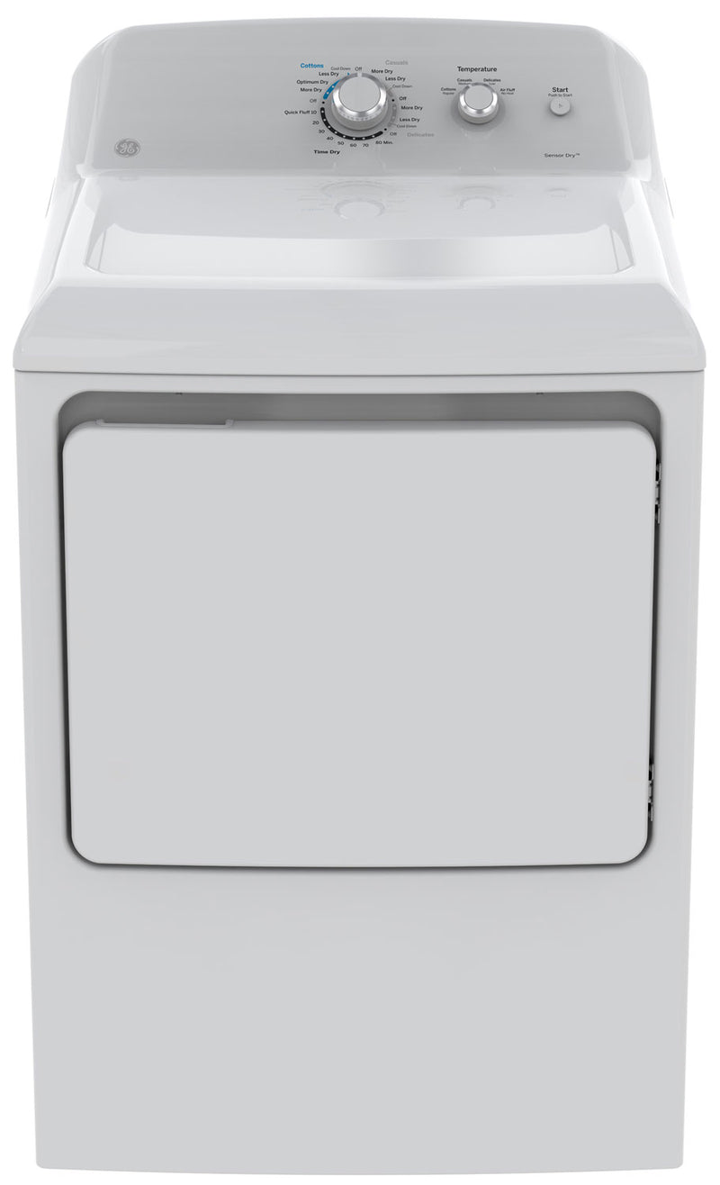 GE 7.2 Cu. Ft. Gas Dryer – GTD40GBMKWW|Sécheuse électrique GE de 7,2 pi³ – GTD40EBMKWW