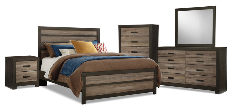 Harlinton 7-Piece Queen Bedroom Package|Ensemble de chambre à coucher Harlinton 7 pièces avec grand lit|HARLCQP7