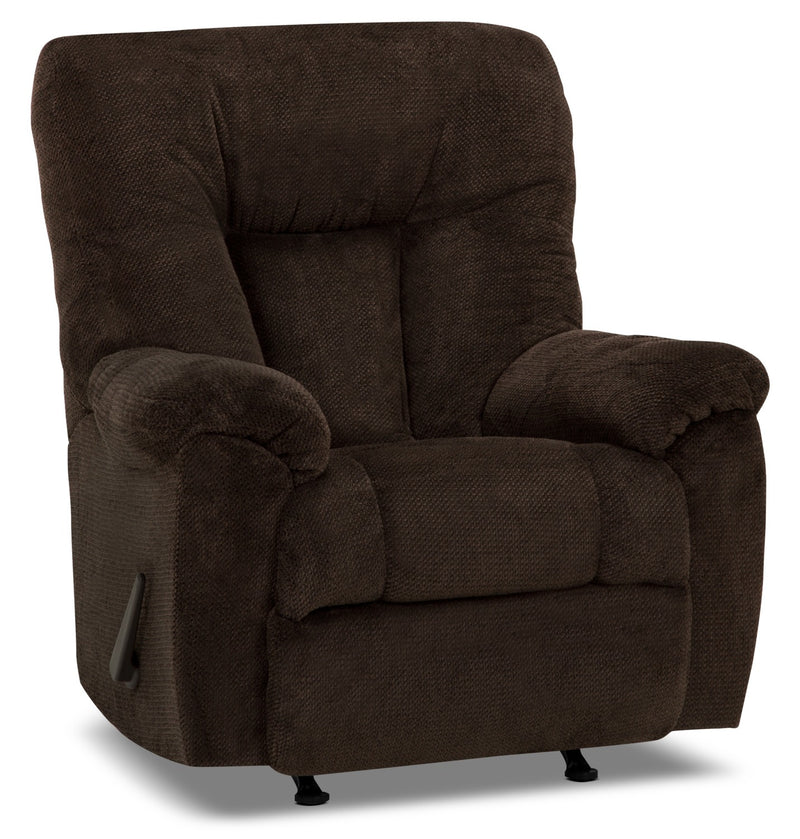 Designed2B 4703 Chenille Rocker Recliner - Earth Chocolate|Fauteuil berçant inclinable 4703 Design à mon image en chenille - chocolat terreux