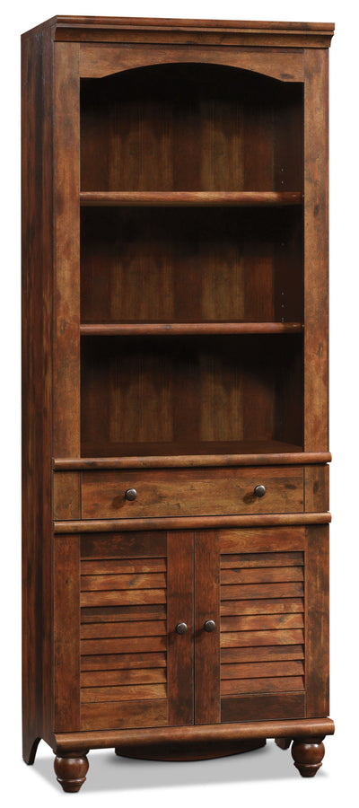 Harbor View Library – Curado Cherry - Country style Bookcase in Light Brown Wood