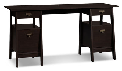 "Stockbridge 59"" Desk – Jamocha Wood