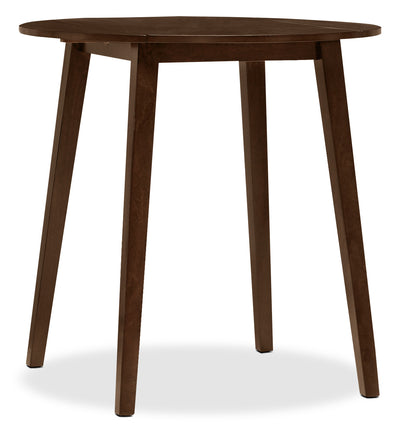 Dakota Counter Height Round Drop Leaf Table - Contemporary style Dining Table in Dark Cherry