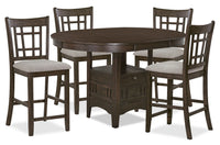 Desi 5-Piece Counter-Height Dining Package – Brown