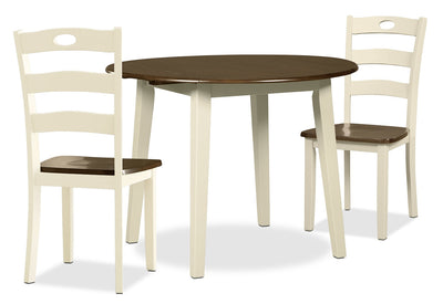 Woodanville 3-Piece Drop-Leaf Dining Package
