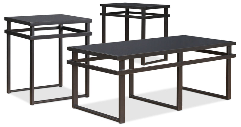 Laney 3-Piece Coffee and Two End Tables Package|Ensemble de table à café et deux tables de bout Laney 3 pièces