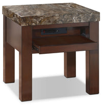 Emerson End Table with Pull-Out Tray|Table de bout Emerson avec plateau coulissant
