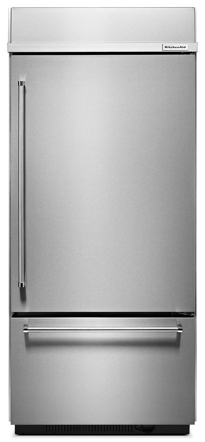 KitchenAid 20.9 Cu. Ft. Built-In Bottom-Mount Refrigerator – KBBR306ESS - Refrigerator in Stainless Steel