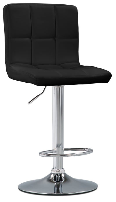 CorLiving High Back Adjustable Bar Stool - Black - Modern style Bar Stool in Black