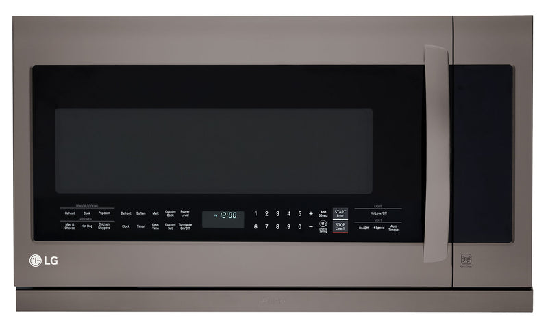 LG 2.2 Cu. Ft. Over-the-Range Microwave – Black Stainless Steel LMV2257BD|Four à micro-ondes à hotte intégrée LG de 2,2 pi³ - acier inoxydable noir LMV2257BD