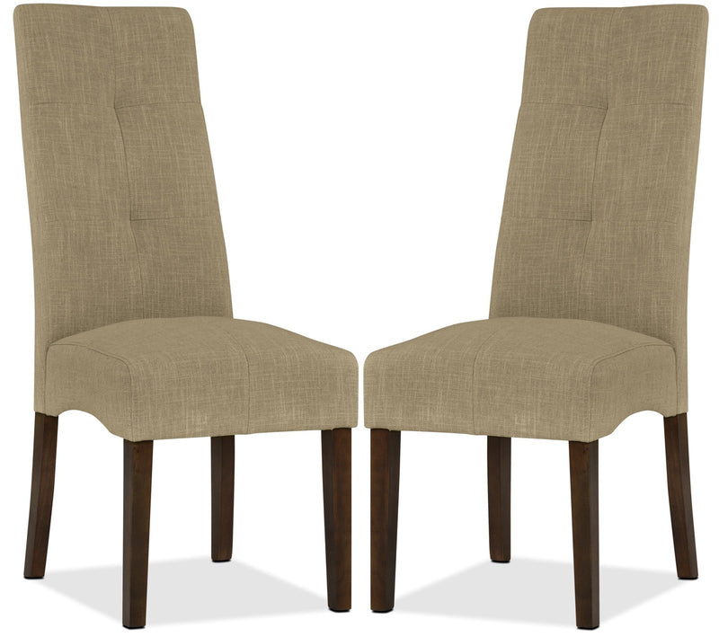 Sadie Dining Chair, Set of 2 - Beige|Chaise de salle à manger Sadie, ensemble de 2 - beige