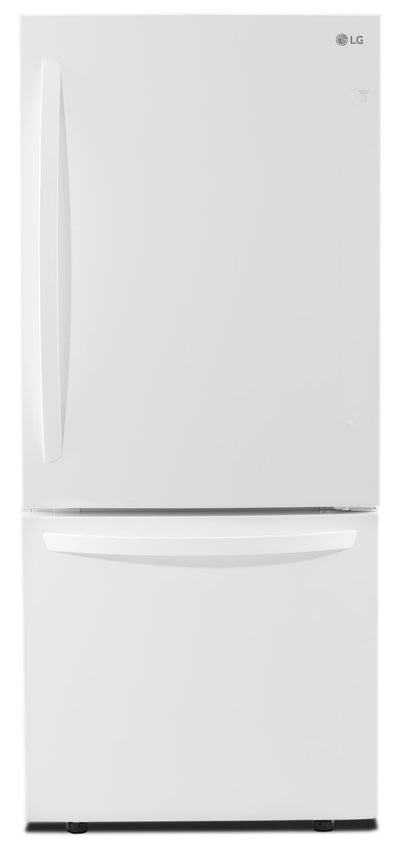 LG 22 Cu. Ft. Energy Star® Bottom-Mount Refrigerator – LDNS22220W - Refrigerator in White