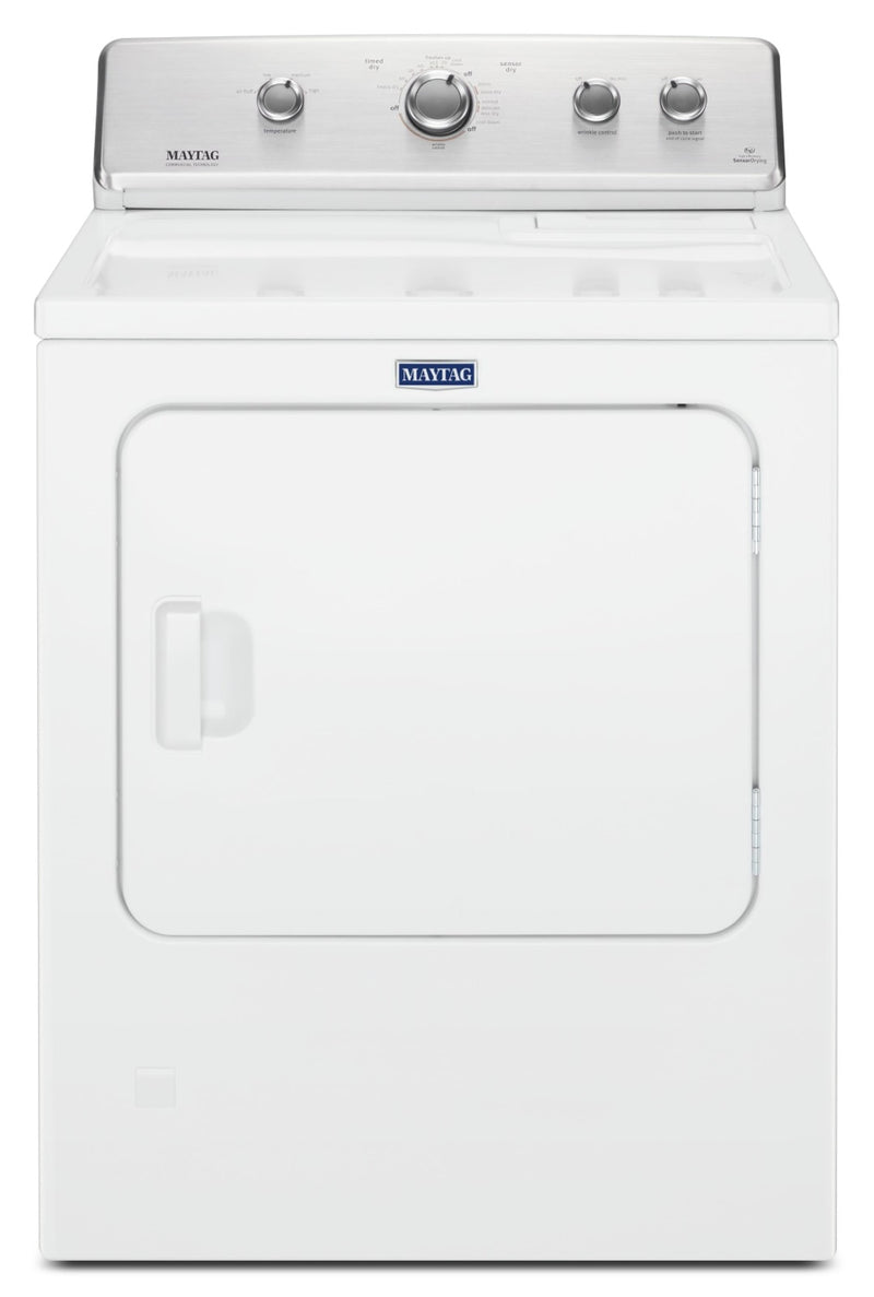 Maytag® Large Capacity Top Load Gas Dryer with Wrinkle Control - 7.0 cu. ft. - Dryer in White