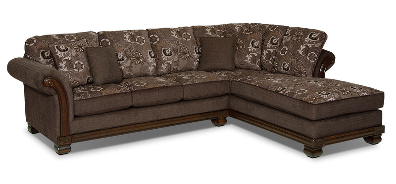 Hazel 2-Piece Chenille Right-Facing Sectional - Quartz|Sofa sectionnel de droite Hazel 2 pièces en chenille - quartz