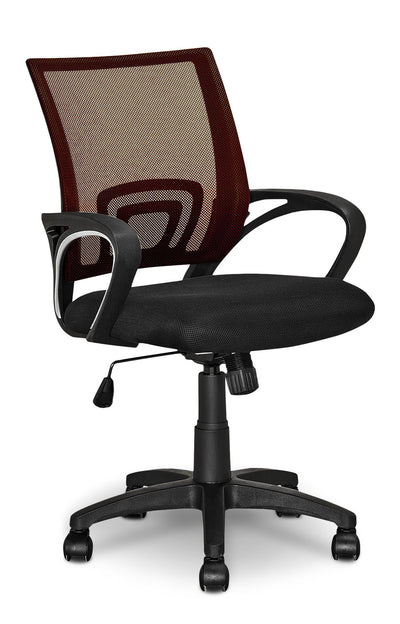 Loft Mesh Office Chair – Brown|Chaise de bureau Loft en mailles - brun|LODBRCHR