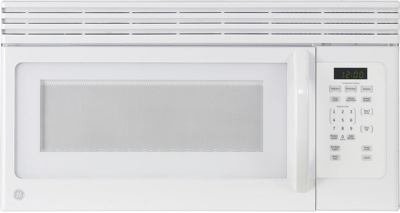 GE 1.6 Cu. Ft. Over-the-Range Microwave - White|Four à micro-ondes à hotte intégrée GE de 1,6 pi³ - blanc