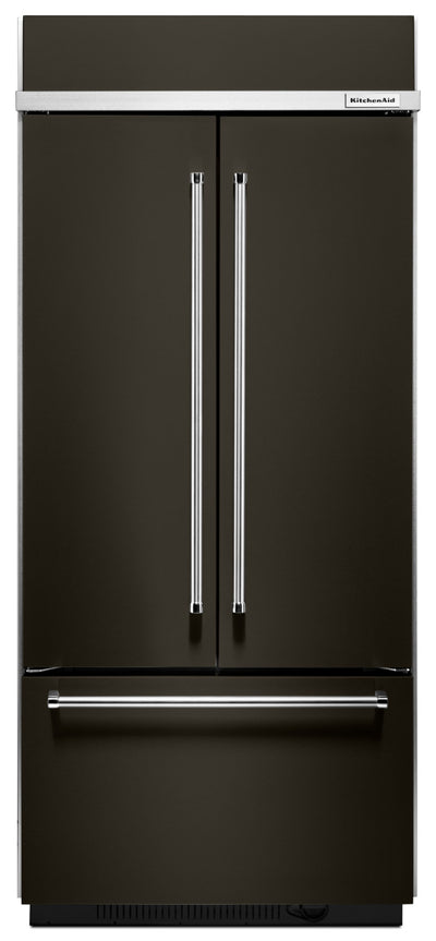 KitchenAid 20.8 Cu. Ft. Built-In French-Door Refrigerator – KBFN506EBS - Refrigerator in Black