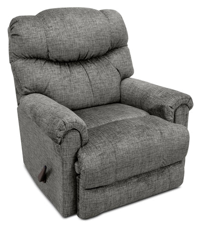 4524 Chenille Rocker Reclining Chair – Grey|Fauteuil berçant inclinable 4524 en chenille – gris|4524GFRC