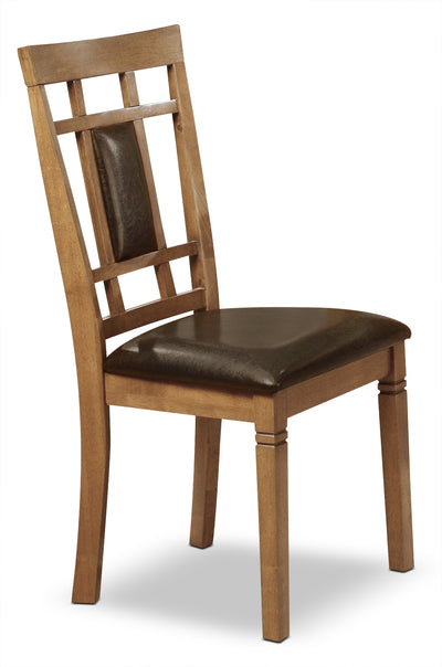 Aran Dining Chair – Light Mango - Rustic style Dining Chair in Light Brown Medium Density Fibreboard and Mango Veneers