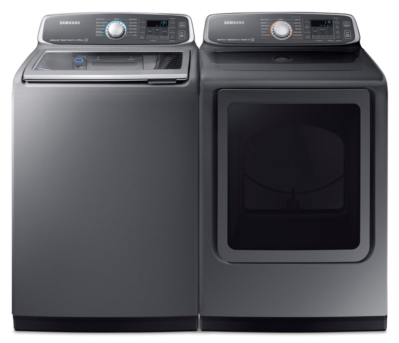 Samsung 6 0 Cu Ft Top Load Washer And 7 4 Cu Ft