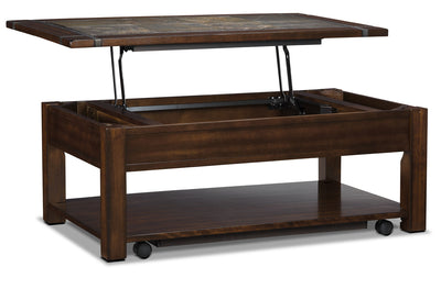 Roanoke Coffee Table with Lift-Top and Casters|Table à café Roanoke avec dessus relevable et roulettes|T2615-CT