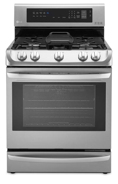 LG 6.3 Cu. Ft. Freestanding Gas Convection Range – Stainless Steel|Cuisinière à gaz amovible LG de 6,3 pi³ à convection - acier inoxydable|LRG5115S