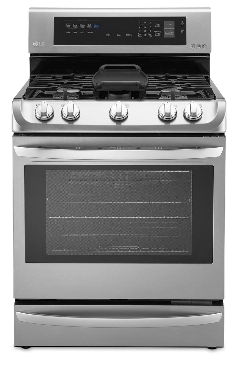 LG 6.3 Cu. Ft. Freestanding Gas Convection Range – Stainless Steel|Cuisinière à gaz amovible LG de 6,3 pi³ à convection - acier inoxydable
