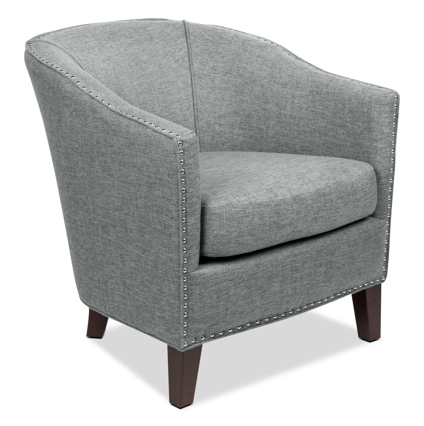 Accent Chairs.Stella Linen Look Fabric Accent Chair Grey