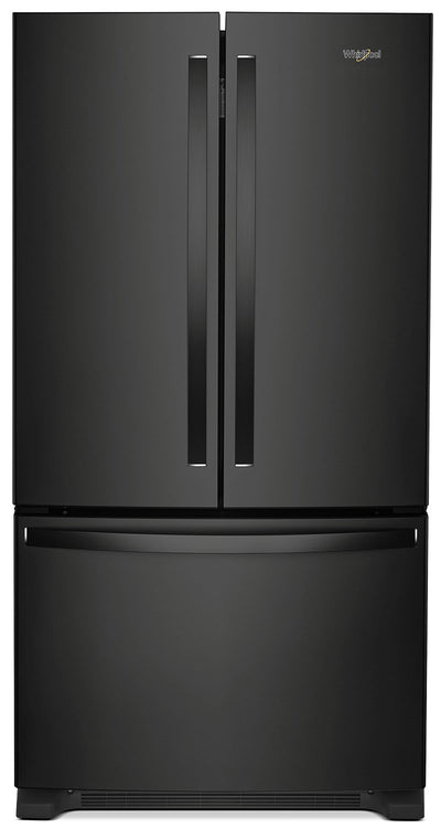 Whirlpool® 25 Cu. Ft. French-Door Refrigerator with Internal Water Dispenser – WRF535SWHB - Refrigerator in Black