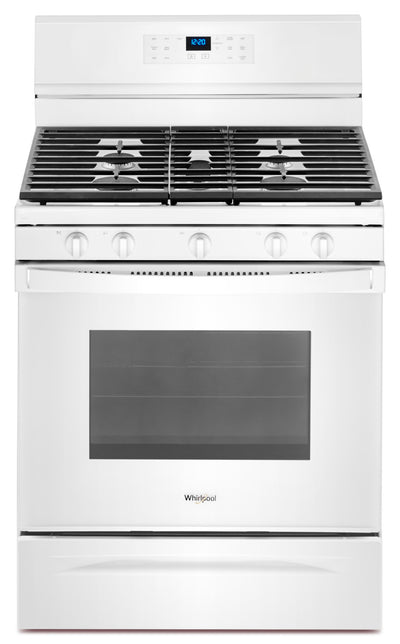 Whirlpool® 5.0 Cu. Ft. Freestanding Gas Range with Fan Convection Cooking - Gas Range in White