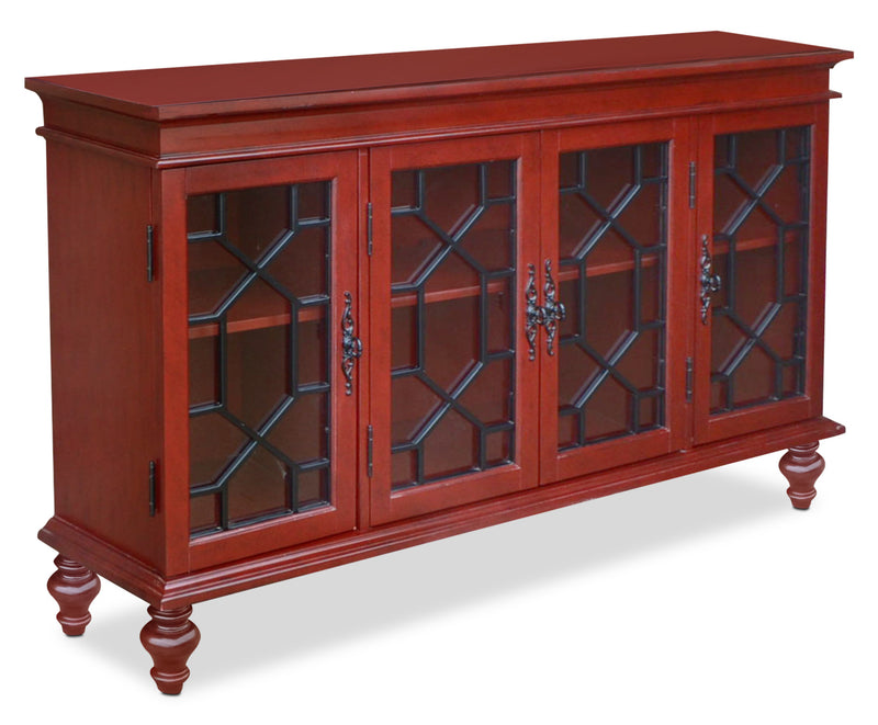 Rigolet Large Accent Cabinet – Red|Grande armoire décorative Rigolet - rouge|RIGRDACC