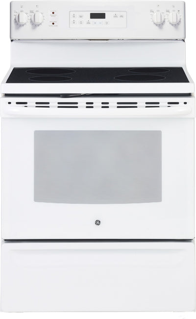 GE 5.0 Cubic Foot Freestanding Electric Self-Cleaning Range – JCB630DKWW - Electric Range in White