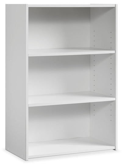 Boston 3-Shelf Bookcase – White - Contemporary style Bookcase in White Wood