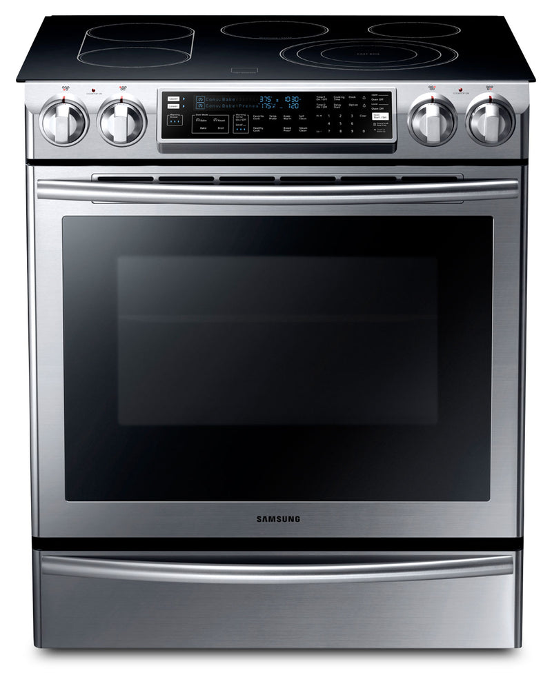 Samsung 5.8 Cu. Ft. Slide-In Electric Flex Duo™ Range – NE58F9710WS/AC|Cuisinière électrique encastrée Samsung de 5,8 pi³ avec four Flex DuoMC – NE58F9710WS/AC