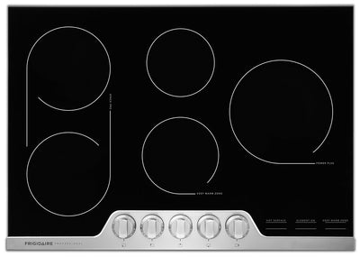 Frigidaire Professional 30'' Electric Cooktop – FPEC3077RF - Electric Cooktop in Black/Stainless Steel