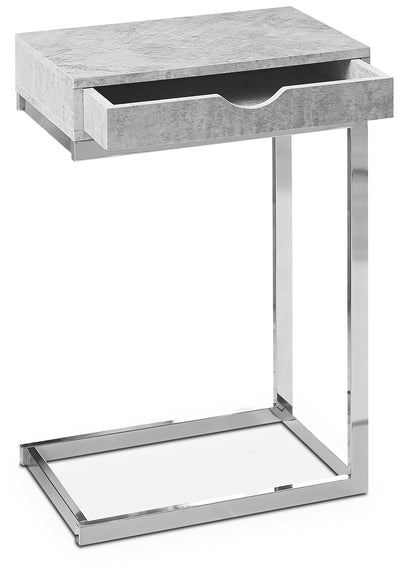 Banda Accent Table - Modern style End Table in Light Grey
